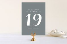 Just Lovely Wedding Table Numbers by Sara Hicks Malone at minted.com