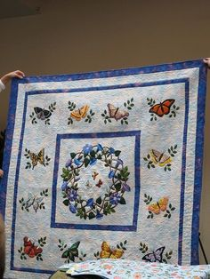 sweet applique quilt by sandra1969