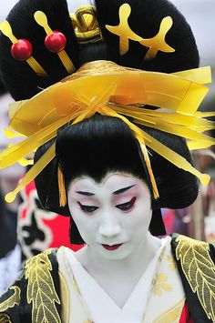 Oiran - hair style, combs and pins