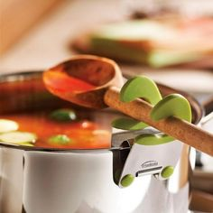 This spoon holder will keep all the messy utensils off the counter