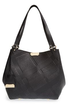 Burberry 'Small Canterbury - Grain Check' Leather Tote available at #Nordstrom
