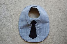 Dapper Dude--Dress Shirt and Necktie Bib. $15.00, via Etsy.