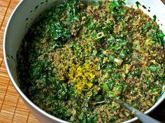 Quinoa Salad with Lemon-Cream Spinach Recipe on Yummly