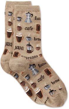 0158d6993 Hot Sox Women s Coffee Crew Socks Funny Socks