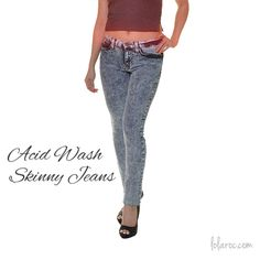Acid wash skinny jeans perfect for day or night! #Love #Fashion #Swag #Jeans #LolaRoc