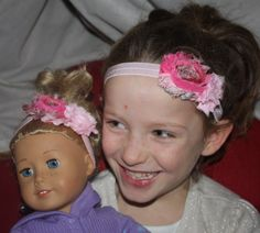 Matching headbands for little girls and any 18 inch doll including American Girl Doll:)  https://www.facebook.com/FiveForleys https://www.etsy.com/shop/FiveForleys