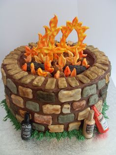 40th birthday fire pit... look into the flames!! :)