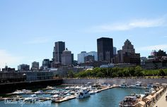 Downtown Montreal from old port