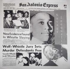 Emmett Till (newspaper coverage)  Be sure to check out Janet Langhart Cohen 's Theatre Classic, Anne and Emmett:  http://anneandemmett.com/