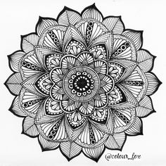 mandala zentangle zenart doodling мандала зентангл зенарт дудлинг