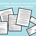 FREE! Applying for and interviewing for the FEW teaching positions out there is a stressful process.  Your first impressions are EVERYTHING, and sometime...