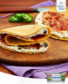 Tortilla triangles are as fun to eat as they are to prepare.