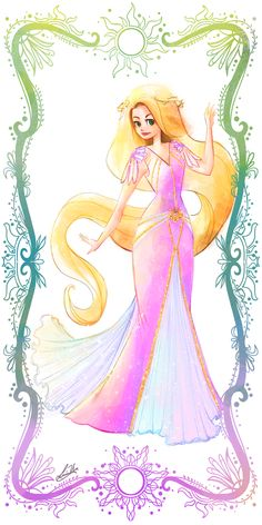 Rapunzel in Lorraine Yee: deco disney Disney Rapunzel, Rapunzel Flynn, Walt Disney, Disney Amor, Disney Girls, Disney Magic, Princess Rapunzel, Rapunzel Story, Punk Disney