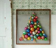 Reuse Old School Ornaments Display Family Childhood Ones Vintage Christmas