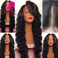 8A Grade Full density Virgin Brazilian Human Hair wigs Full Lace Wig in Natural baby hair hairline Lace Front Wig Glueless Wig