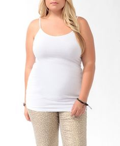 Forever 21 is the authority on fashion & the go-to retailer for the latest trends, styles & the hottest deals. Shop dresses, tops, tees, leggings & more! Plus Size Winter, Long A Line, Cami, Basic Tank Top, Latest Trends, Forever 21, V Neck, Tank Tops, My Style