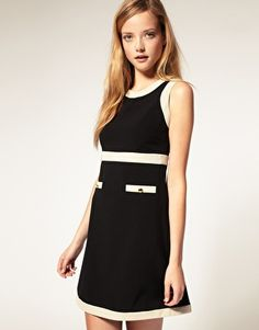 Shift dress. Would love this with tights & boots