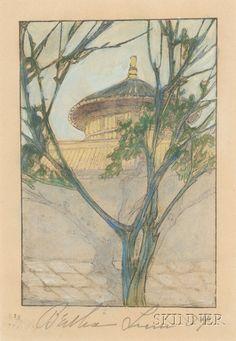 Bertha Lum (American, 1869-1954) By the Palace Wall