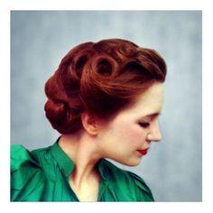 Beautiful vintage hairstyle