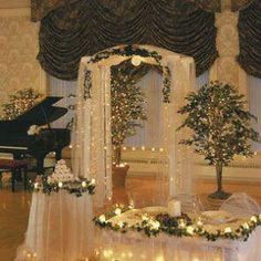 decorating with white fairly lights   Hire White Arch Hire with Ivy & Fairy Lights for weddings and wedding ...