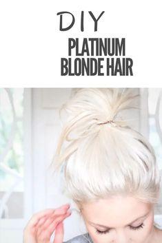 Get this beautiful Platinum Blonde Hair. A quick DIY guide with video. #diyplatinumblonde #diy #platinumblonde #diyblondehair #diyplatinumblondehair