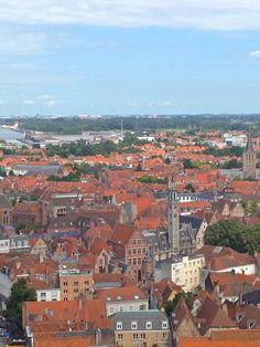 Bruges, Belgium view from the Belfry tower. Brugge, Bruges, Bruge Belgium Europe Travel