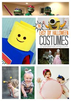 Are you ready for Halloween? Need some inspiration and ideas? For the next 31 days we are sharing easy DIY Halloween Costumes here on Crystal & Co.! We have a super cute list of costumes that y...