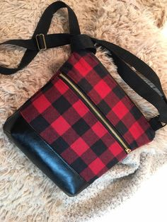 Excited to share this item from my shop: Buffalo plaid satchel, red and black plaid crossbody bag, red flannel purse Tote Handbags, Purses And Handbags, Plaid Purse, Satchel, Crossbody Bag, Red Flannel, Red And Black Plaid, Buffalo Plaid, Tartan