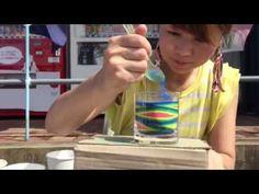 カラーサンドアート abloom 魚魚まつり - YouTube