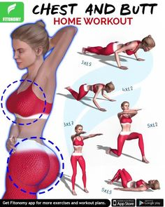 Chest And Butt HOME Workout Do you suffer from excess abdominal fat that is not moving, no matter what you do? Do the conspicuous infomercial convinced that his belly fat is directly linked to stress and have to get rid of the miracle pill that is without Fitness Workouts, Fitness Motivation, Pilates Workout Routine, Workout Videos, At Home Workouts, Butt Workouts, Fat Workout, Exercise Routines, Pooch Workout