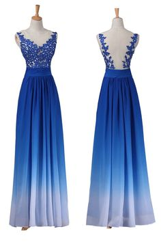 Prom Dresses Long Ombre Prom Dresses Blue Prom Dresses A-Line Prom Dresses Prom Dresses Chiffon Ombre Prom Dresses, Royal Blue Prom Dresses, Princess Prom Dresses, Blue Party Dress, Open Back Prom Dresses, Prom Dresses With Sleeves, Backless Prom Dresses, A Line Prom Dresses, Prom Dresses Online