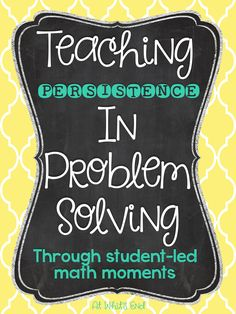 Persistence in Problem Solving: Student-Led Math Moments Student Teaching, Math Teacher, Math Classroom, Teaching Ideas, Classroom Ideas, Fun Math, Maths, Math Math, Multiplication