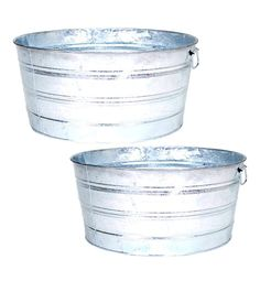 Galvanized Wash Tubs, $22
