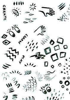 The Book Playbox painted pattern elements.