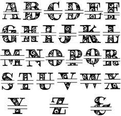 Split-letter Alphabet