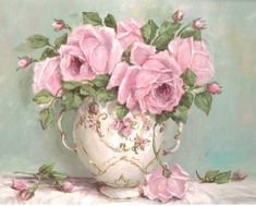 PRINT ON PAPER - Display of Pink Roses - FREE  Shipping WORLD WIDE