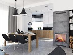 DOM WIELICZKA - Średni salon z kuchnią z jadalnią, styl nowoczesny - zdjęcie od FORMA - Pracownia Architektury Wnętrz i Krajobrazu