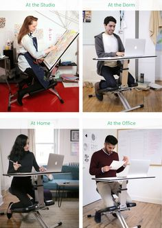 Be more productive and maximize space with this comfortable, ergonomic desk/chair/easel combo that folds flat and sets up in seconds.