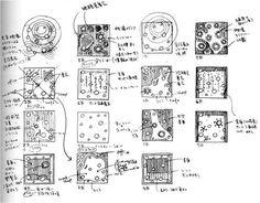 Toyo Ito, Concept Diagrams for the Mediatheque Building, Sendai, Japan, 2001