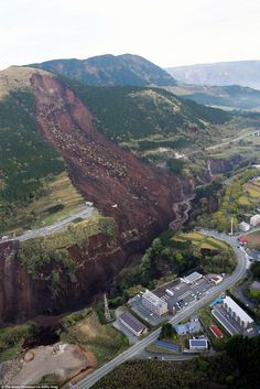 04/15/2016 - Devastating landslide rips a Japanese mountain apart: Death toll rises to 41 after second earthquake destroys roads, bridges and homes