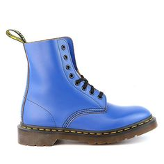 Dr. Martens Pascal 8 Eye Boot - Blue Vintage Smooth - Mens - 10