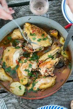 Provençal Chicken in Pastis; A classic one-pot French dinner!