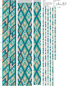 16 around tubular bead crochet rope pattern Crochet Bracelet Pattern, Bead Crochet Patterns, Crochet Beaded Bracelets, Bead Crochet Rope, Seed Bead Patterns, Peyote Patterns, Bracelet Patterns, Beading Patterns, Beaded Jewelry