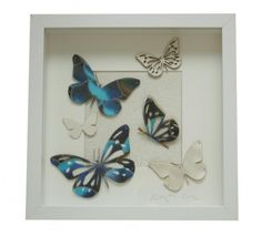 Beautiful butterflies made out of LEILA HAFZI cut off waste of handpainted silks by Erga Design