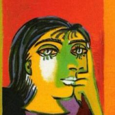Picasso's Dora Mar at the Picasso Museum in Paris. Love her.