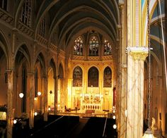 The nave soared majestically to Gothic groining -- photo nycago.com