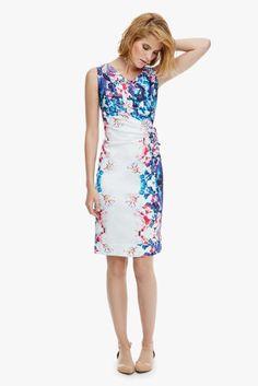 Vestido de tubo con estampado floral - Vestidos | Adolfo Dominguez shop online