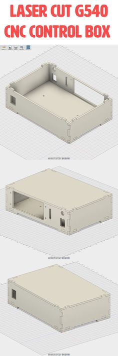 Laser cut CNC Control Box for the Gecko G540. You are looking at the most compact G540 CNC control box on the market at this time. Coming in at just smaller than the size of a piece of copy paper, length & width. Try out this super compact, yet functional enclosure for the Gecko G540. Lasercut from birch plywood, this design fits together without the use of any screws. G540 Gecko CNC Control Box for CNC Router Plasma Laser Cutter or 3D Printer