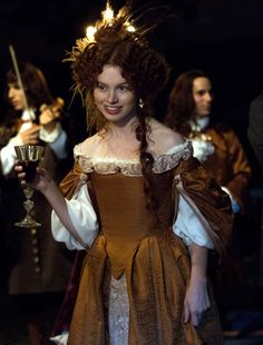Sarah Winter as Louise de La Vallière in Versailles (TV Series, 2015).