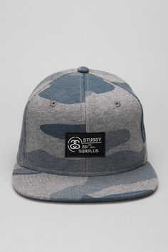Stussy Fleece Camouflage Snapback Hat  #UrbanOutfitters